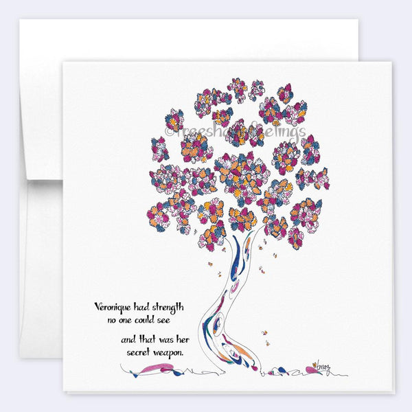 VERONIQUE | Single Card card TREES HAVE FEELINGS