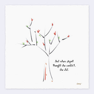 "APRIL | Giclée Print Print TREES HAVE FEELINGS Deckled Edge 8""x8"""