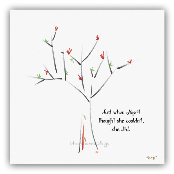 APRIL | Giclée Print Print TREES HAVE FEELINGS
