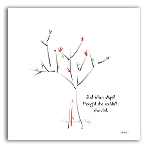 "APRIL  |  8""x8"" Giclée Print - TREES HAVE FEELINGS"