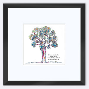 "AURELIA | Framed Print Framed TREES HAVE FEELINGS 8""x8"" print + 3.5"" mat Black"