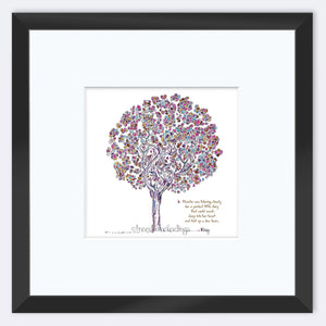 "BLANCHE | Framed Print Framed TREES HAVE FEELINGS 8""x8"" print + 3.5"" mat Black"