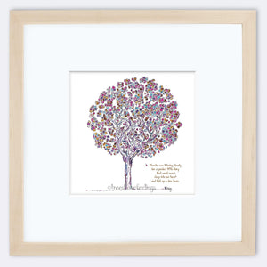 "BLANCHE | Framed Print Framed TREES HAVE FEELINGS 8""x8"" print + 3.5"" mat Natural"