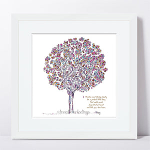 "BLANCHE | Framed Print Framed TREES HAVE FEELINGS 8""x8"" print + 1.5"" mat White"