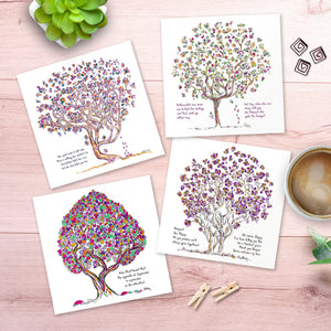 "BLOOMING GREETING CARDS | 5""x5"" folded 