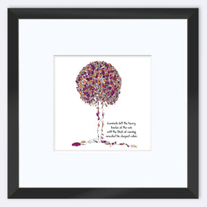 "CARNIVALE | Framed Print Framed TREES HAVE FEELINGS 8""x8"" print + 3.5"" mat Black"