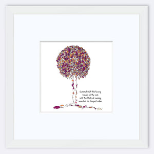 "CARNIVALE | Framed Print Framed TREES HAVE FEELINGS 8""x8"" print + 3.5"" mat White"