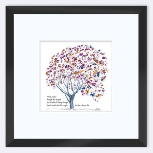"EMMA BLU | Framed Print Framed TREES HAVE FEELINGS 8""x8"" print + 3.5"" mat Black"