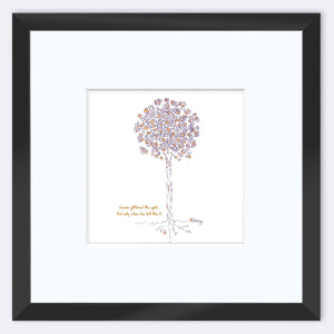 "GRACIE | Framed Print Framed TREES HAVE FEELINGS 8""x8"" print + 3.5"" mat Black"