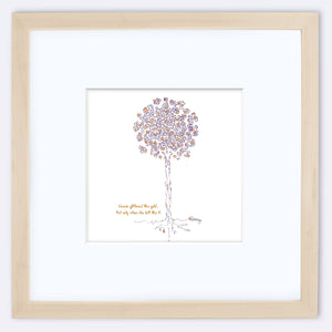 "GRACIE | Framed Print Framed TREES HAVE FEELINGS 8""x8"" print + 3.5"" mat Natural"
