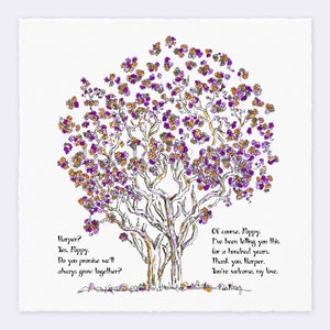 "HARPER & POPPY | Giclée Print Print TREES HAVE FEELINGS Deckled Edge 8""x8"""
