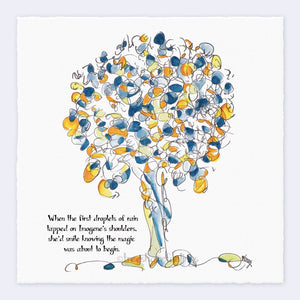 "IMOGENE | Giclée Print Print TREES HAVE FEELINGS Deckled Edge 8""x8"""