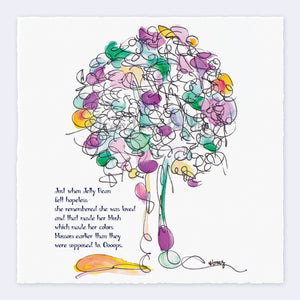 "JELLY BEAN | Giclée Print Print TREES HAVE FEELINGS Deckled Edge 8""x8"""