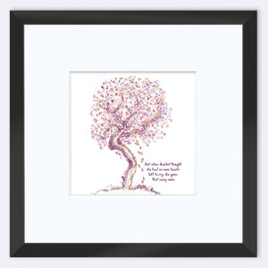 "JEZEBEL | Framed Print Framed TREES HAVE FEELINGS 8""x8"" print + 3.5"" mat Black"