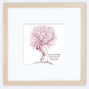 "JEZEBEL | Framed Print Framed TREES HAVE FEELINGS 8""x8"" print + 3.5"" mat Natural"