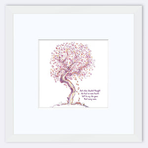 "JEZEBEL | Framed Print Framed TREES HAVE FEELINGS 8""x8"" print + 3.5"" mat White"