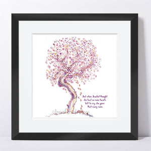 "JEZEBEL | Framed Print Framed TREES HAVE FEELINGS 8""x8"" print + 1.5"" mat Black"