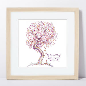 "JEZEBEL | Framed Print Framed TREES HAVE FEELINGS 8""x8"" print + 1.5"" mat Natural"