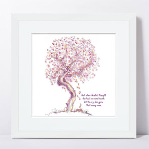 "JEZEBEL | Framed Print Framed TREES HAVE FEELINGS 8""x8"" print + 1.5"" mat White"