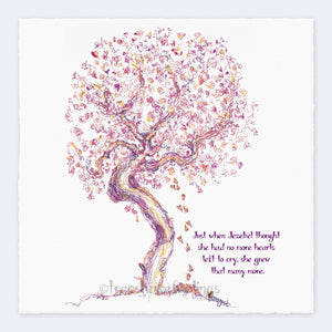 "JEZEBEL | Giclée Print Print TREES HAVE FEELINGS Deckled Edge 8""x8"""