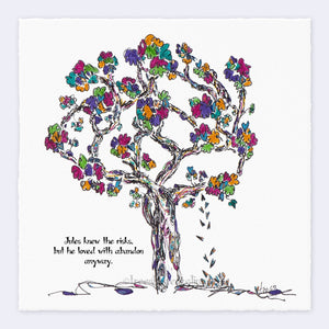 "JULES | Giclée Print Print TREES HAVE FEELINGS Deckled Edge 8""x8"""
