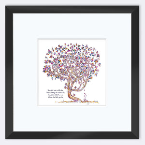 "MADELEINE | Framed Print Framed TREES HAVE FEELINGS 8""x8"" print + 3.5"" mat Black"