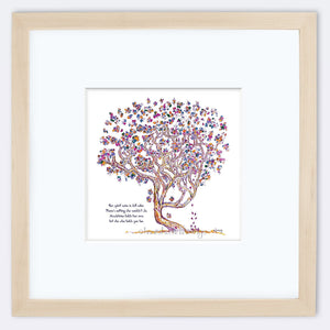 "MADELEINE | Framed Print Framed TREES HAVE FEELINGS 8""x8"" print + 3.5"" mat Natural"
