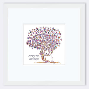 "MADELEINE | Framed Print Framed TREES HAVE FEELINGS 8""x8"" print + 3.5"" mat White"