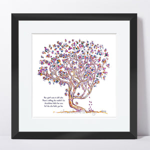 "MADELEINE | Framed Print Framed TREES HAVE FEELINGS 8""x8"" print + 1.5"" mat Black"