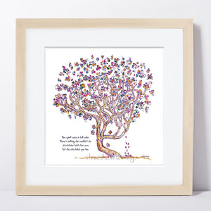 "MADELEINE | Framed Print Framed TREES HAVE FEELINGS 8""x8"" print + 1.5"" mat Natural"