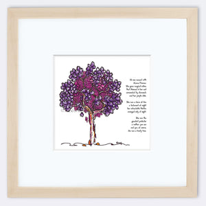 "MAMA FIRENZA | Framed Print Framed TREES HAVE FEELINGS 8""x8"" print + 3.5"" mat Natural"