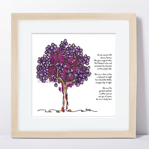"MAMA FIRENZA | Framed Print Framed TREES HAVE FEELINGS 8""x8"" print + 1.5"" mat Natural"