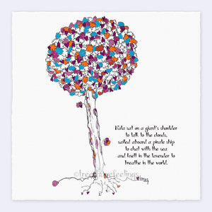 "NALA | Giclée Print Print TREES HAVE FEELINGS Deckled Edge 8""x8"""