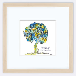 "OPHELIA | Framed Print Framed TREES HAVE FEELINGS 8""x8"" print + 3.5"" mat Natural"