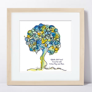 "OPHELIA | Framed Print Framed TREES HAVE FEELINGS 8""x8"" print + 1.5"" mat Natural"