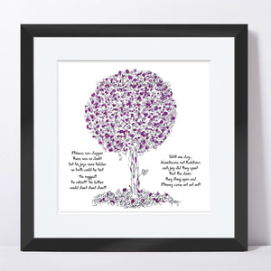 "PHINEAS | Framed Print Framed TREES HAVE FEELINGS 8""x8"" print + 1.5"" mat Black"
