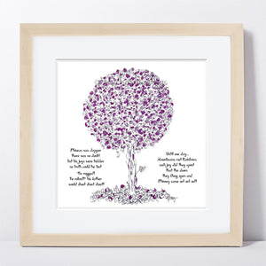 "PHINEAS | Framed Print Framed TREES HAVE FEELINGS 8""x8"" print + 1.5"" mat Natural"
