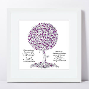 "PHINEAS | Framed Print Framed TREES HAVE FEELINGS 8""x8"" print + 1.5"" mat White"