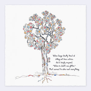 "SAGE | Giclée Print Print TREES HAVE FEELINGS Deckled Edge 8""x8"""
