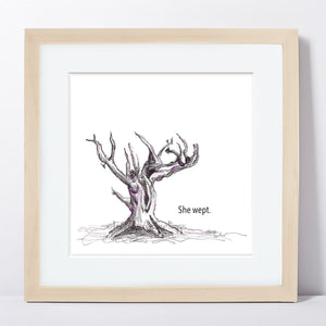 SHE WEPT  |  Framed Print
