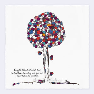 "SIR ROBERT | Giclée Print Print TREES HAVE FEELINGS Deckled Edge 8""x8"""
