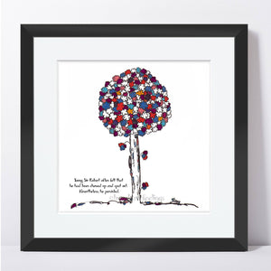 "SIR ROBERT | Framed Print Framed TREES HAVE FEELINGS 8""x8"" print + 1.5"" mat Black"