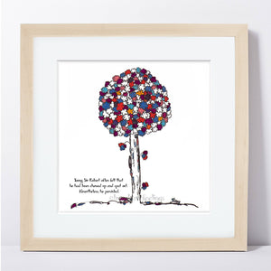 "SIR ROBERT | Framed Print Framed TREES HAVE FEELINGS 8""x8"" print + 1.5"" mat Natural"