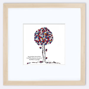 "SIR ROBERT | Framed Print Framed TREES HAVE FEELINGS 8""x8"" print + 3.5"" mat Natural"