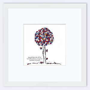 "SIR ROBERT | Framed Print Framed TREES HAVE FEELINGS 8""x8"" print + 3.5"" mat White"