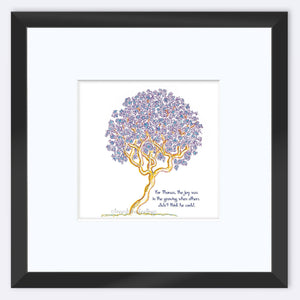 "THOMAS | Framed Print Framed TREES HAVE FEELINGS 8""x8"" print + 3.5"" mat Black"