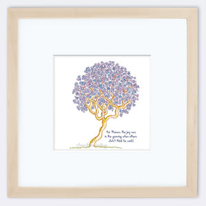 "THOMAS | Framed Print Framed TREES HAVE FEELINGS 8""x8"" print + 3.5"" mat Natural"