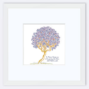 "THOMAS | Framed Print Framed TREES HAVE FEELINGS 8""x8"" print + 3.5"" mat White"