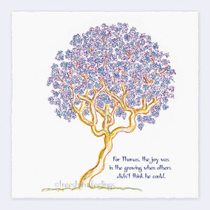 "THOMAS | Giclée Print Print TREES HAVE FEELINGS Deckled Edge 8""x8"""