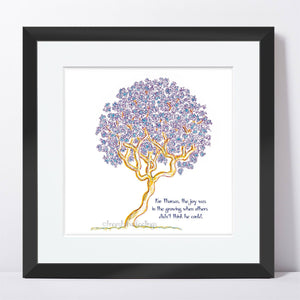 "THOMAS | Framed Print Framed TREES HAVE FEELINGS 8""x8"" print + 1.5"" mat Black"